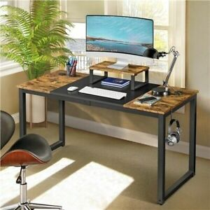 Topeakmart 55 inch Large Computer Desk with Splice Board