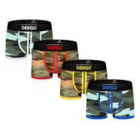 4 Pack Mens Boxer Briefs Mesh Bulge Pouch Underwear Shorts Trunks Camouflage