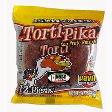 Torti-Pika Natural Fruit Tamarind ( Ate Sabor Tamarido) 12-pcs bag Net Wt 6-oz