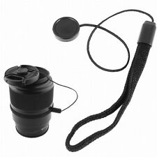 Fashion 1pc Lens Cover Cap Holder Keeper String Leash Strap Rope For DSLR Camera