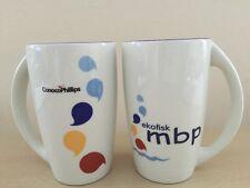 2x Mugs ConocoPhillips Ekofisk MBP Figgjo Norway Verde Excellent Clean Condition