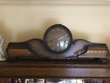 Large Telep Antique Mantel Clock  Westminster Trinity Chimes Germany ~ Rare