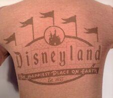 DisneyLand resort Men's medium Mickey Mouse Shirt men's brown shirt