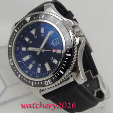 44mm PARNIS Sterile dial Luminous Date Ceramic Bezel Steel automatic men's Watch