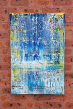 """Modern Abstract Art original canvas painting """"Bleau"""""""