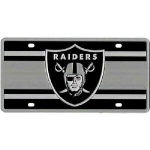 Las Vegas Raiders NFL Super Stripe Laser Cut License Plate
