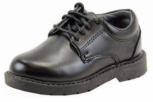 School Issue Boy's Scholar Black Fashion Oxford School Uniform Shoes