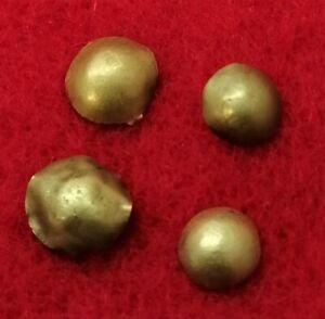4 Gold Roman Sun Disc Pendants