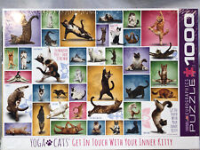 Yoga Cats 1000 Pcs Eurographics Jigsaw Puzzle Sealled  BN