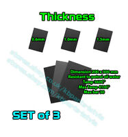 Set of 3 Gasket Paper Material Sheets 20x30cm thickness 0.6mm 1.0mm 1.5mm