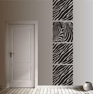 WANDTATTOO Wandaufkleber Wandsticker Banner Zebra Afrika Flur Wohnzimmer WT 606