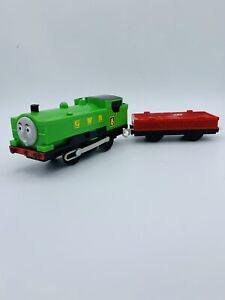 Thomas & Friends Trackmaster Motorized Train Engine Duck W/  Cargo Car