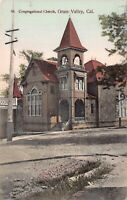Hand Colored Postcard Congregational Church in Grass Valley, California~126528