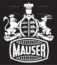 Mauser Firearms - Hunting/Outdoor Sports - Vinyl Die-Cut Peel N' Stick Decal