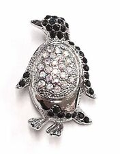 Beautiful Penguin Brooch Silver Tone