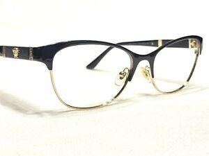 Versace MOD1233-Q 1366 Women's Black Cats Eye Rx Eyeglasses Frames 53/17~140