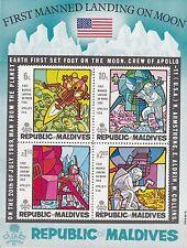 Malediven / Maledives Nr. Bl. 10** Erste bemannte Mondlandung / Apollo 11