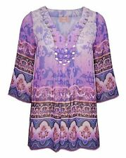 Hip Length Blouse Polyester Casual Tops & Shirts for Women