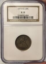 1875 cc twenty cent piece NGC F 15