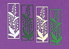 LILY OF THE VALLEY PANEL die cuts scrapbook cards