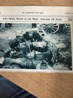 74-3 Ephemera Ww1 1916 Picture British Gunners Take A Break