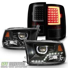 2009-2017 Dodge Ram 1500 SMD LED DRL Halo Headlights+LED Tail lights Brake Lamps