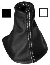 Soufflet de levier vitesse noir 100% CUIR coutures blanches pour PEUGEOT 307