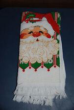 Santa Claus Dish Towel -- Christmas Holiday Decorations