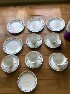 Bone China Tea Cups & Side Plates. Made In China, Breast Cancer Charity.