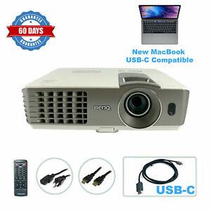 BenQ MX710 DLP Projector Home Theater - New MacBook Mac USB-C Compatible bundle