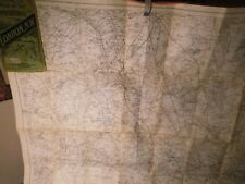 LONDON NORTH WEST-ANTIQUE RAILWAY AND ROAD MAP GEORGE BACON OF STRAND UNION Ct