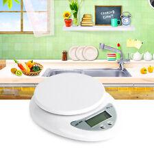 5kg 5000g/1g Digitale Küchenwaage Digital Küche Scale Waage Kitchen Waagen Weiß