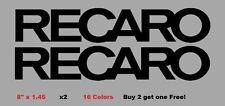 Recaro Decal Stickers Set of 2 Mugen JDM Spoon Honda Civic Accord Prelude CRX