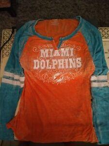 Miami Dolphins Girls NFL Team Long Sleeve Shirt (LG) 14-16 Jersey Girls Juniors