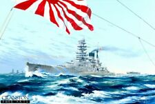World War 2 naval  art print Imperial Japanese navy Battleship Nagato