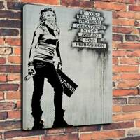 """BANKSY - Greatness, Printed Box Canvas Picture A1.30""""x20""""Deep 30mm Frame"""