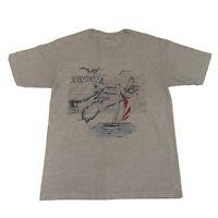 VTG 80s Single Stitch T-Shirt Men's Large Maritimes Map Ocean Geography Sea