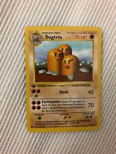 First Edition Dugtrio Shadowless Pokemon Card Unplayed Mint NM