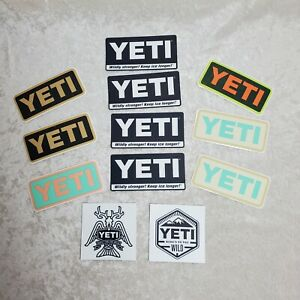 Authentic Yeti Decal Stickers lot of 12