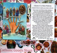 Oracion a la Mano Poderosa - Spanish- Plastic stock Holy Card