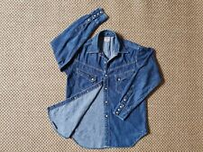 The Real McCoy's Joe McCoy Denim Western Shirt tag size 15 Made in Japan