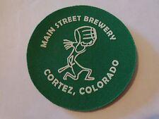 Foam Beer Bar Coaster ~ MAIN STREET Brewery ~ Cortez, COLORADO ~ Tegistologist