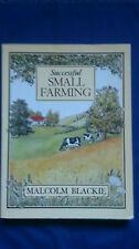 SUCCESSFUL SMALL FARMING Hobby Farming MALCOLM BLACKIE Vintage Book