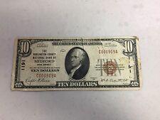SERIES 1923 $10 TEN DOLLAR  MEDFORD NATIONAL BANK NOTE