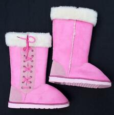 womens size 9 pink ugg boots lace up winter footwear synthetic fleece slippers