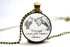 the Pooh quote necklace. inspirational quote. Love quote pooh.pendant necklacec