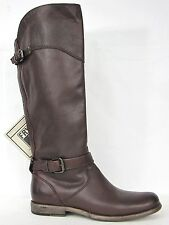 FRYE BOOTS Phillip Riding Dark Brown Soft Leather Boots 76844 SZ 7.5 $398