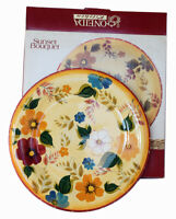 ONEIDA KITCHEN Sunset Bouquet Dinner Plate Yellow Floral 2003 Pattern NEW IN BOX