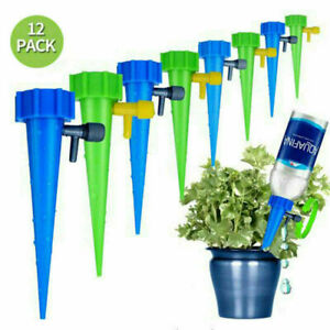 12PCS Automatic Plant Water Funnel Flower Self Watering System Drip Spikes Set