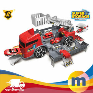 Construction Truck Kids Play Transport Fire Ladder  Engineering Boys Toy Vehicle